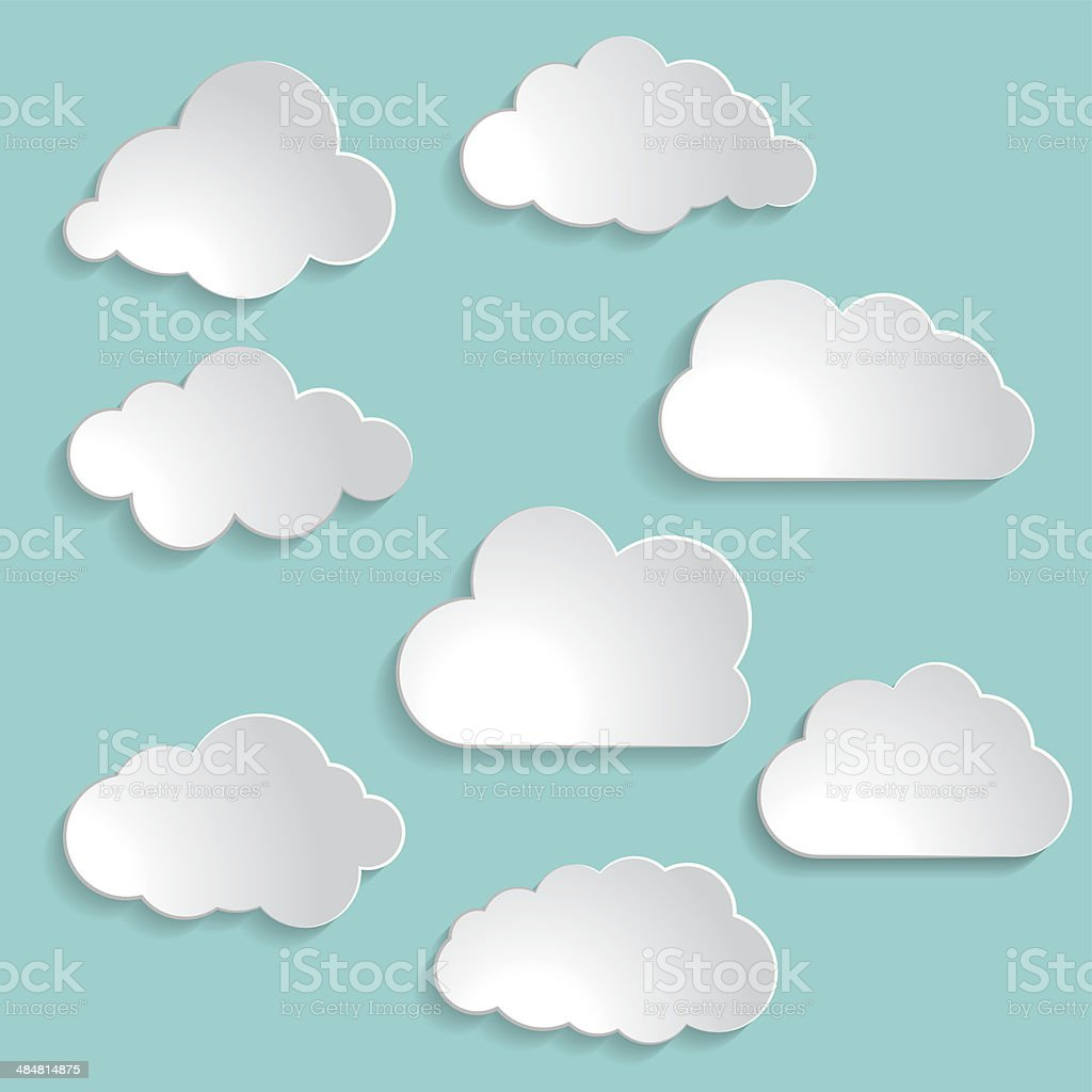 illustration of clouds collection vector art illustration