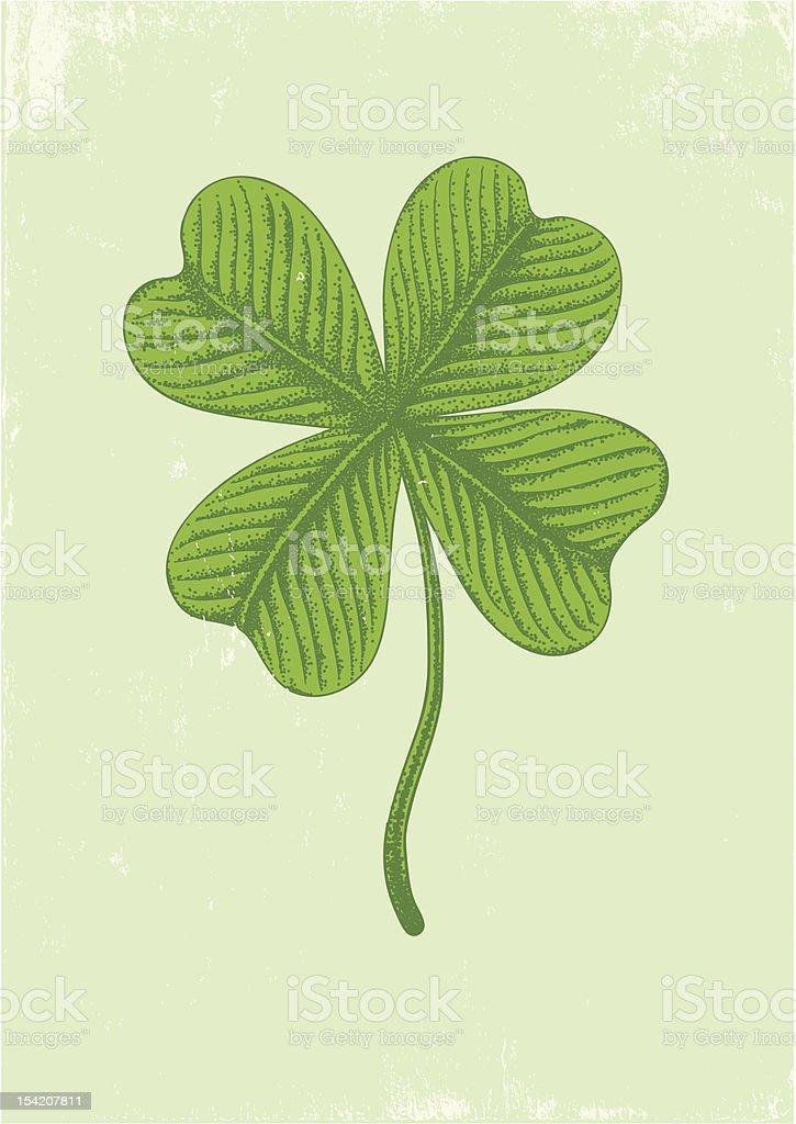 Illustration of clover royalty-free stock vector art