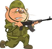 Illustration of Cute Cat Special Forces Cartoon Character