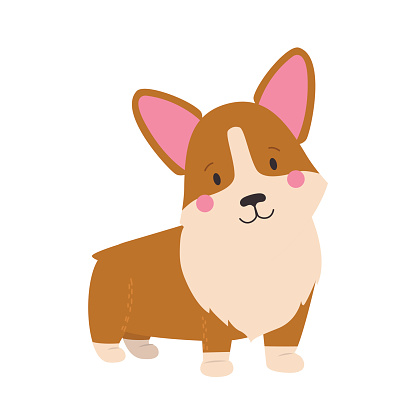 Cute Corgi Clip Art, Vector Images & Illustrations - iStock