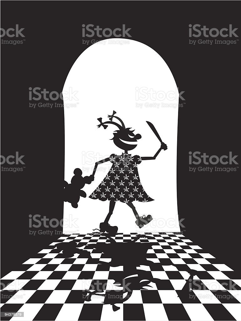 Illustration of evil girl royalty-free stock vector art