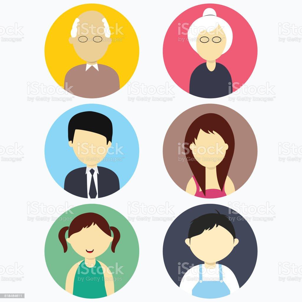 Illustration of family members. vector art illustration