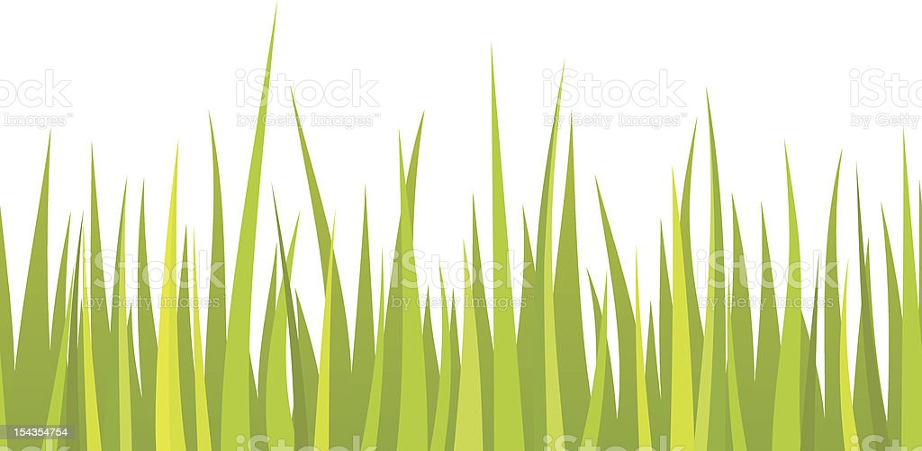 Illustration of grass blades in different shades of green royalty-free stock vector art