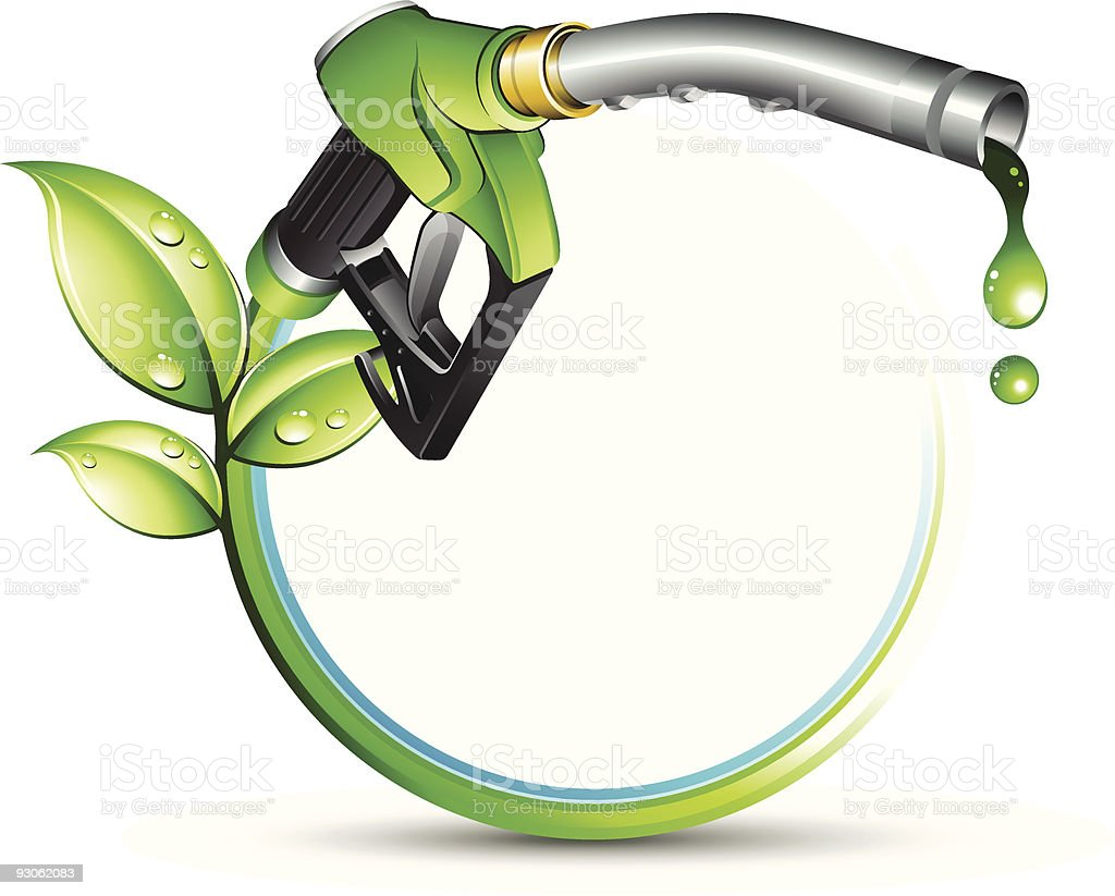 Illustration of green eco-friendly biofuel royalty-free stock vector art