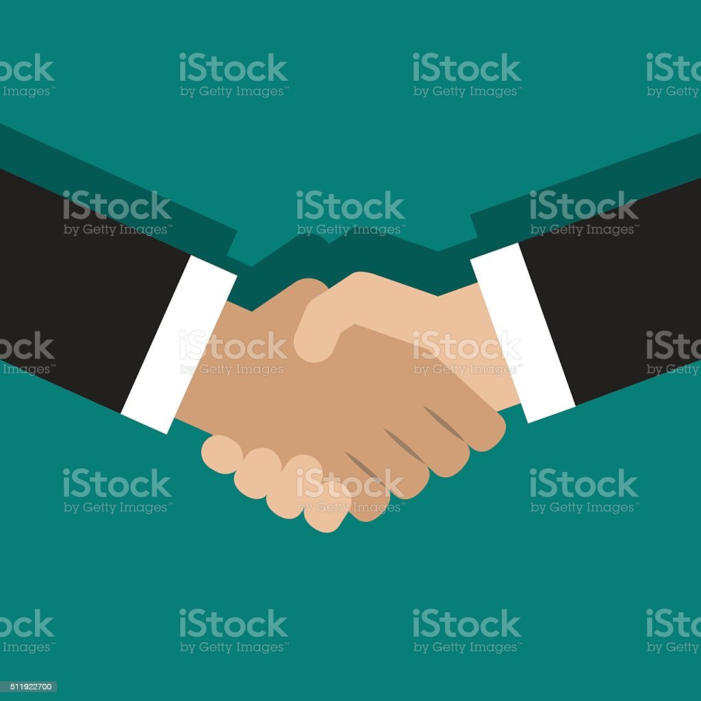 illustration of handshake vector art illustration