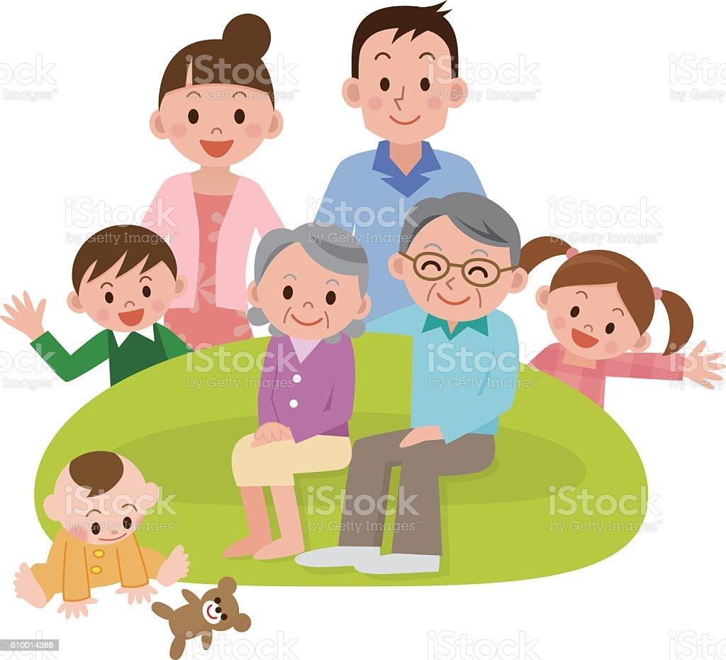 Illustration of Happy Family vector art illustration