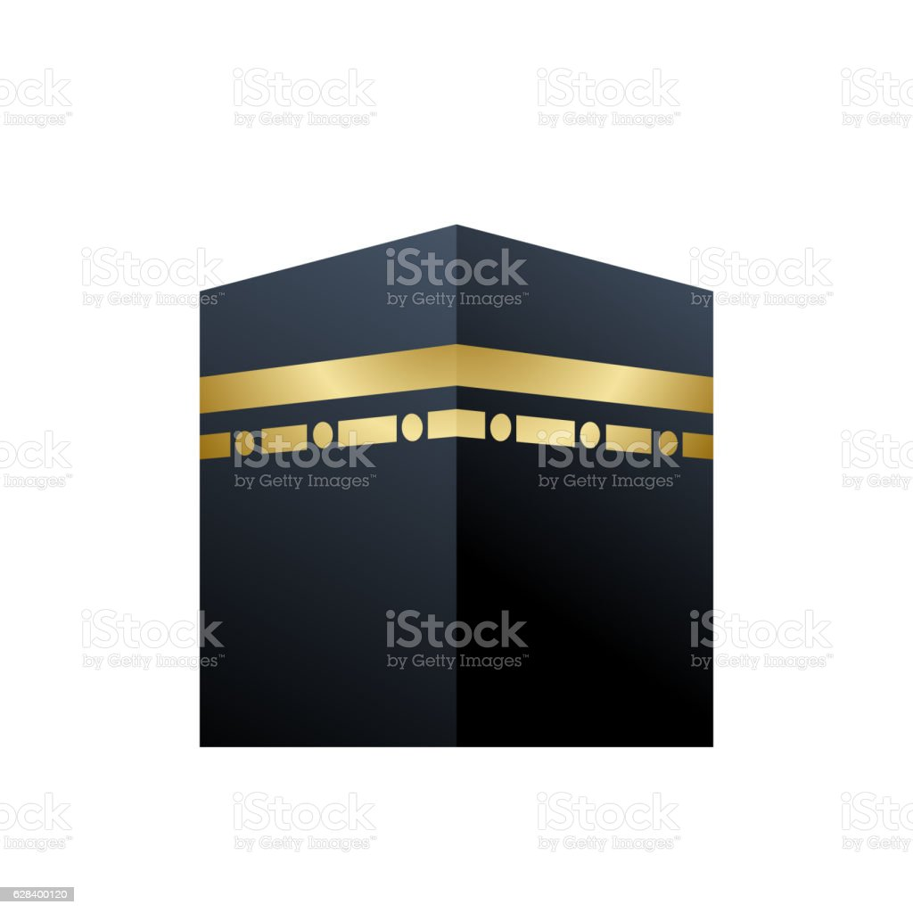 Illustration of Holy Kaaba in Mecca Saudi Arabia vector art illustration