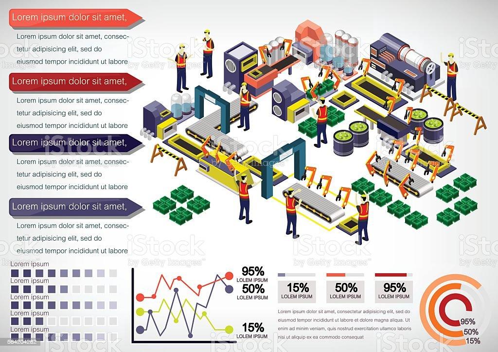 illustration of info graphic factory equipment concept vector art illustration