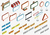 illustration of info graphic sale icons set concept