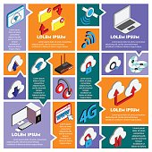 illustration of info graphic technology concept