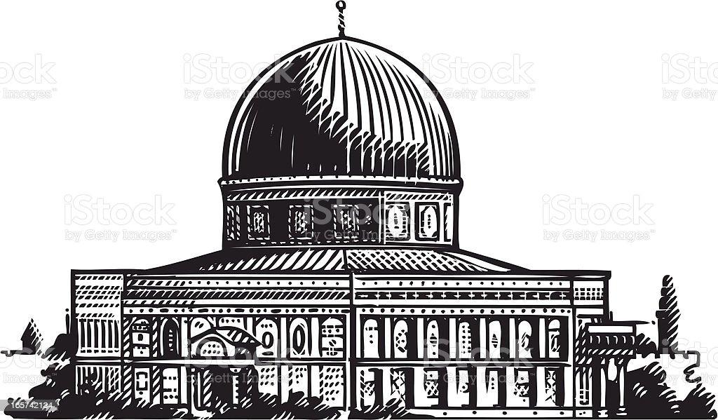 illustration of Jerusalem vector art illustration