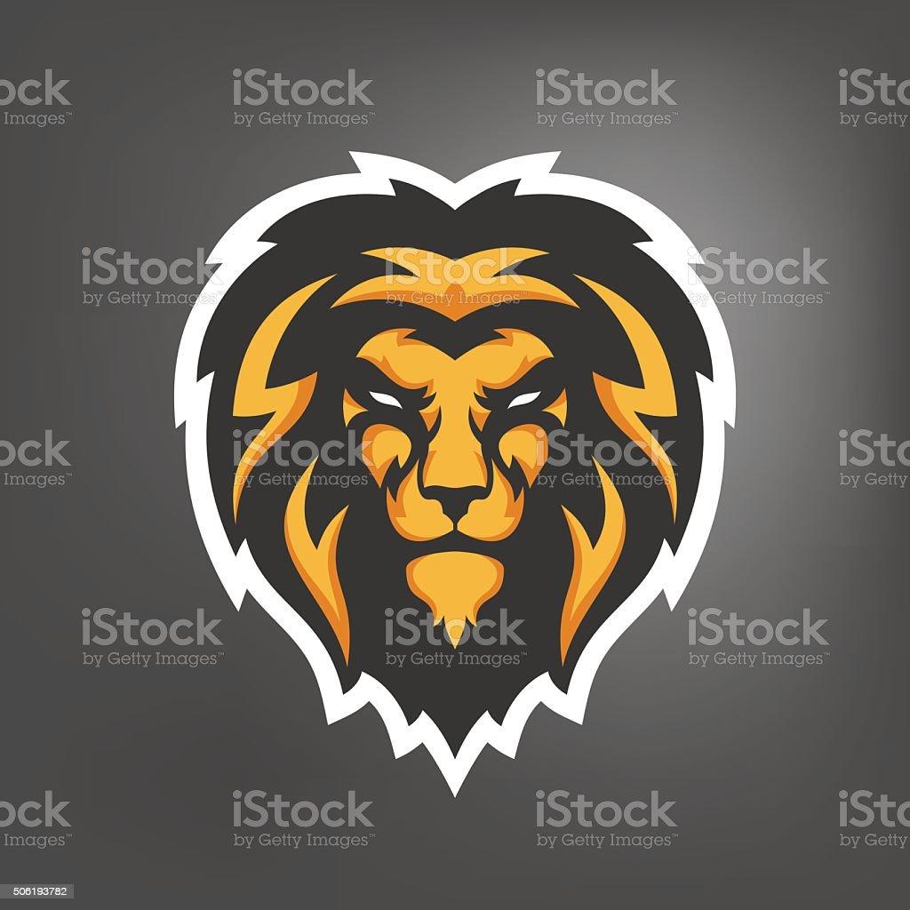 Illustration of lion head. Sport mascot. vector art illustration