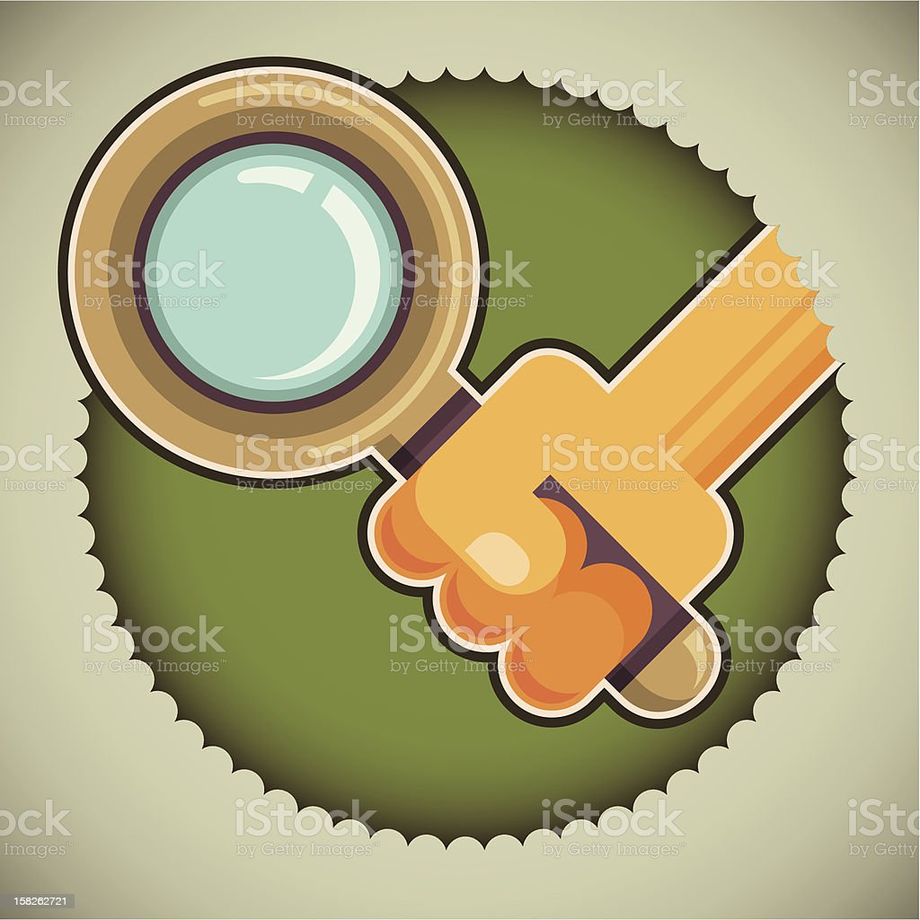 Illustration of magnifying glass. royalty-free stock vector art