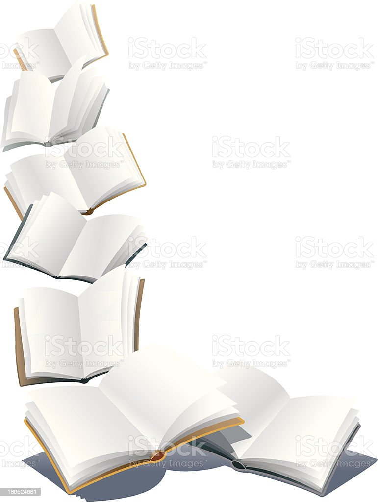 Illustration of many different colored books royalty-free stock vector art