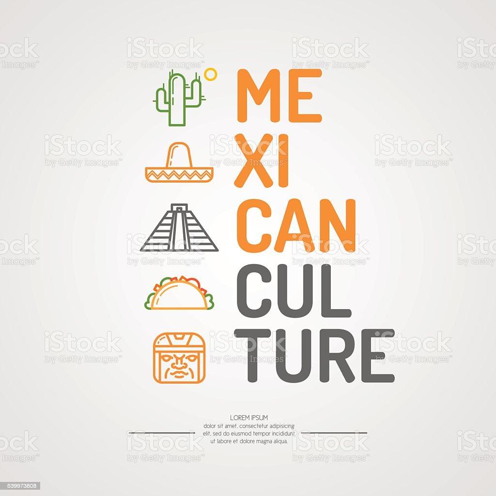 Illustration of Mexican culture. vector art illustration