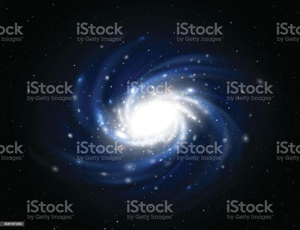 Illustration of Milky way vector art illustration