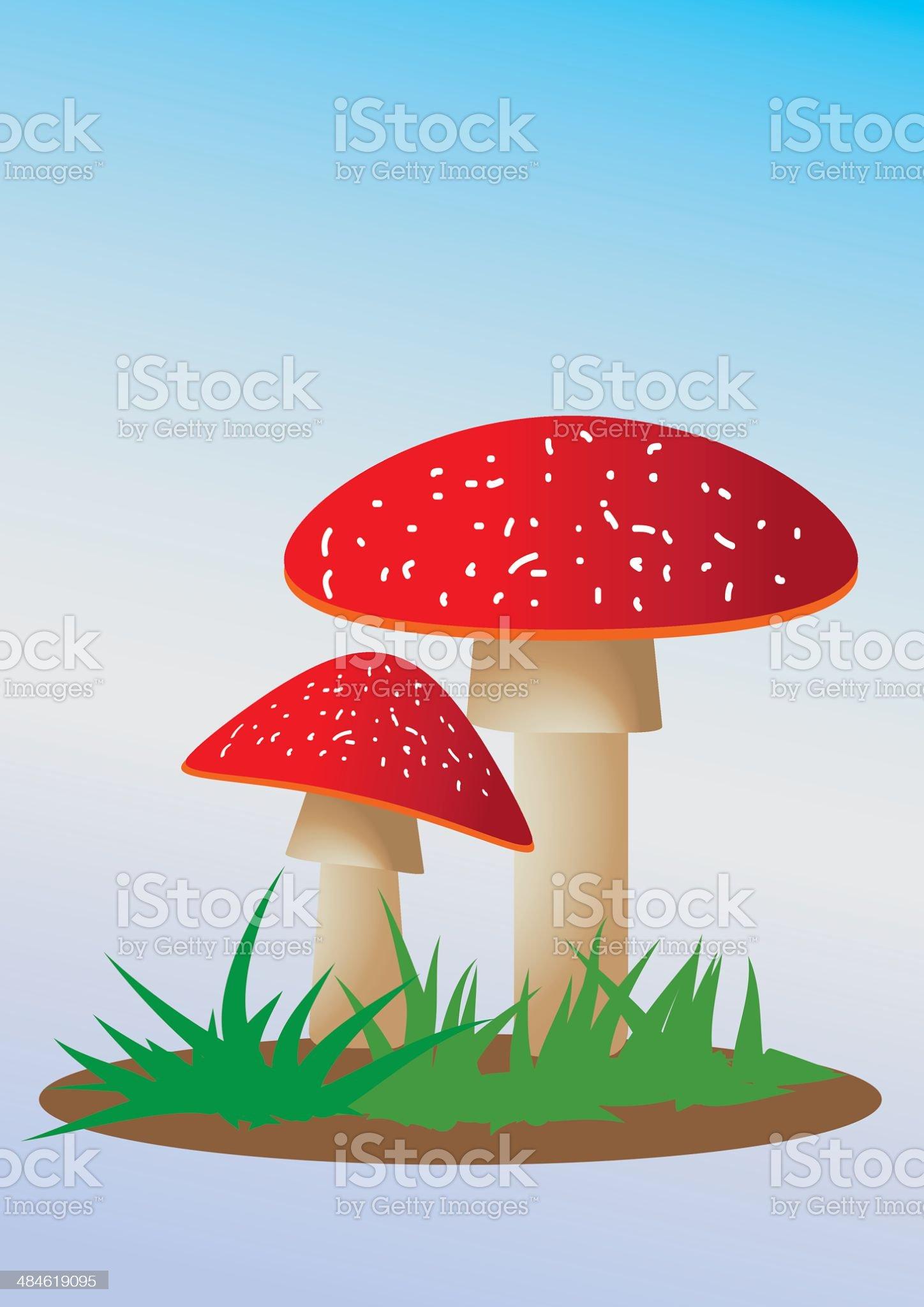 Illustration of Mushroom. royalty-free stock vector art