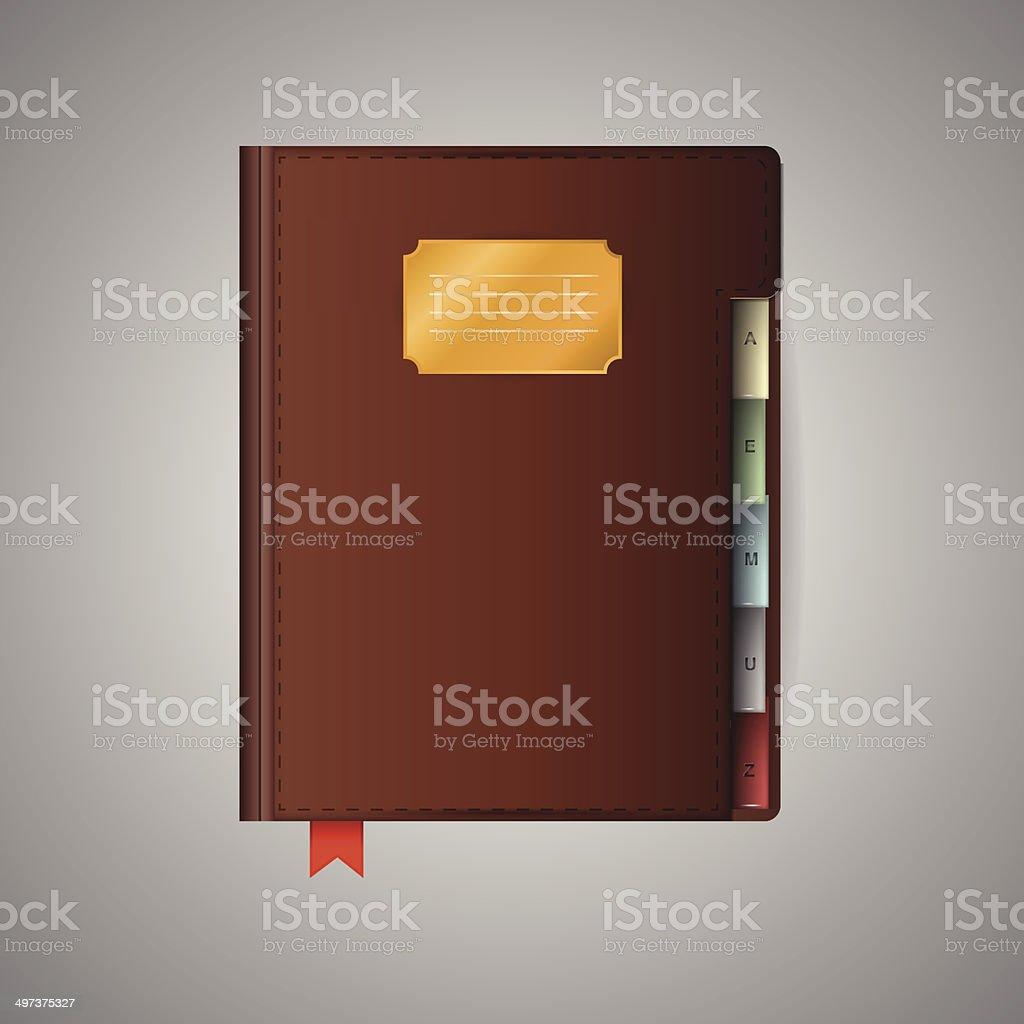 Illustration of notebook vector art illustration