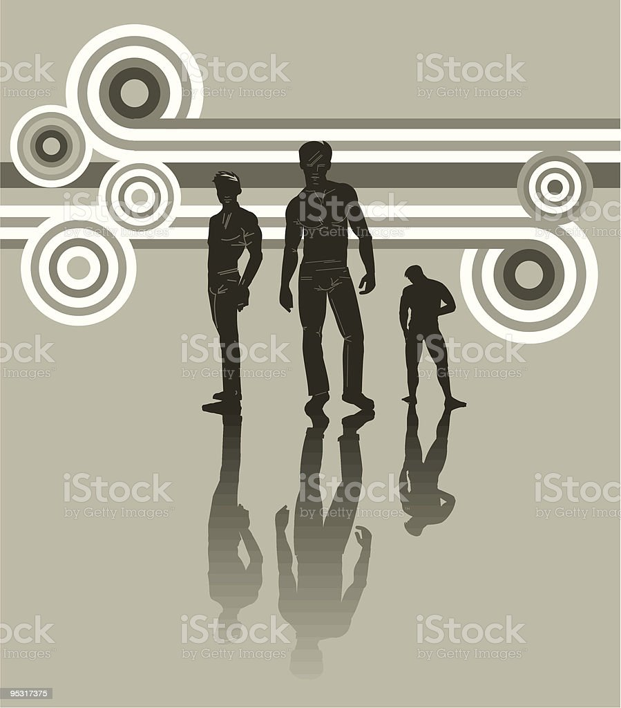 illustration of party guys royalty-free stock vector art