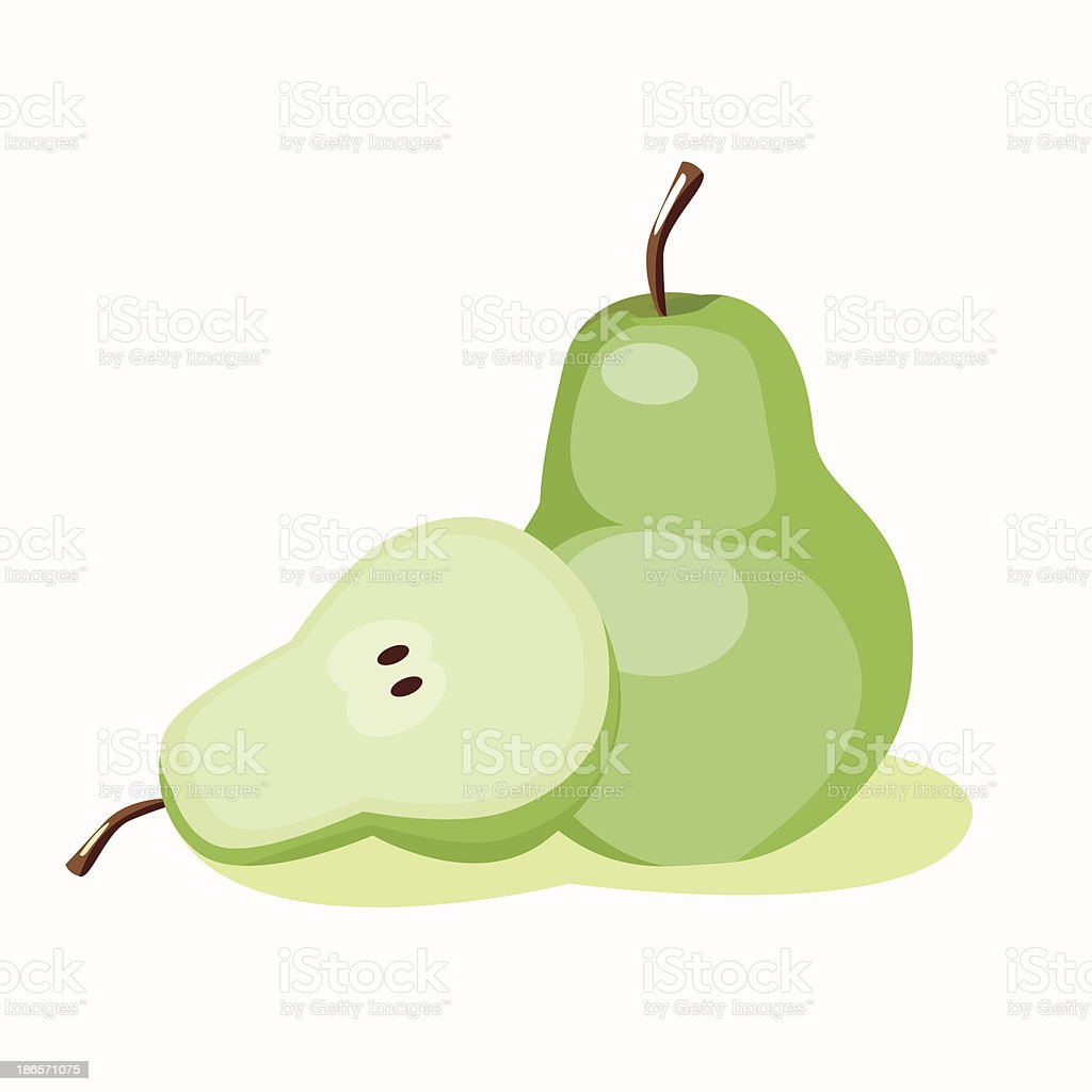 illustration of pear fruit royalty-free stock vector art