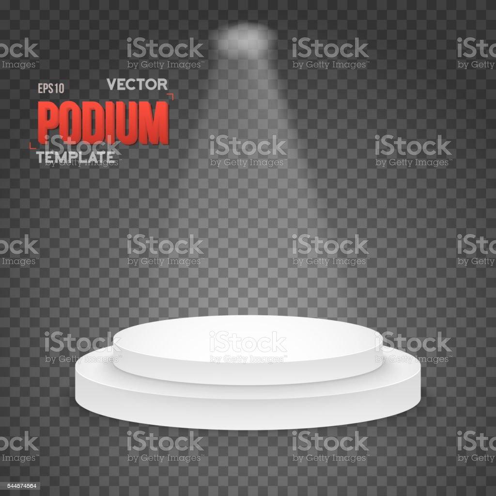 Illustration of Photorealistic Winner Podium Stage with Stage Li vector art illustration