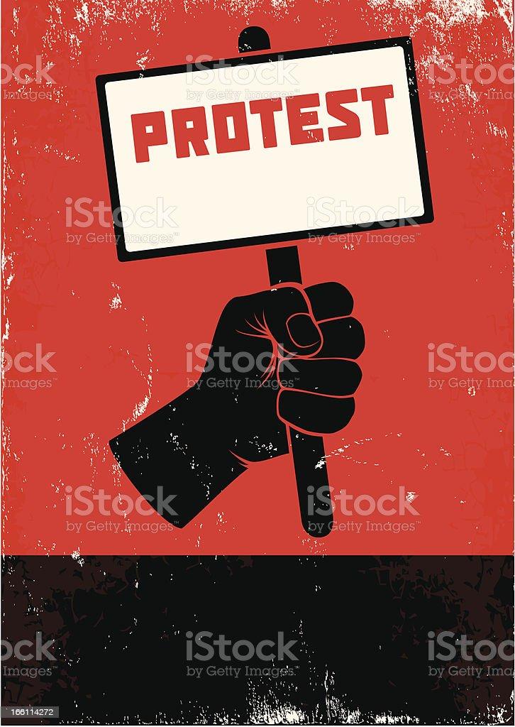 Illustration of protest vector art illustration