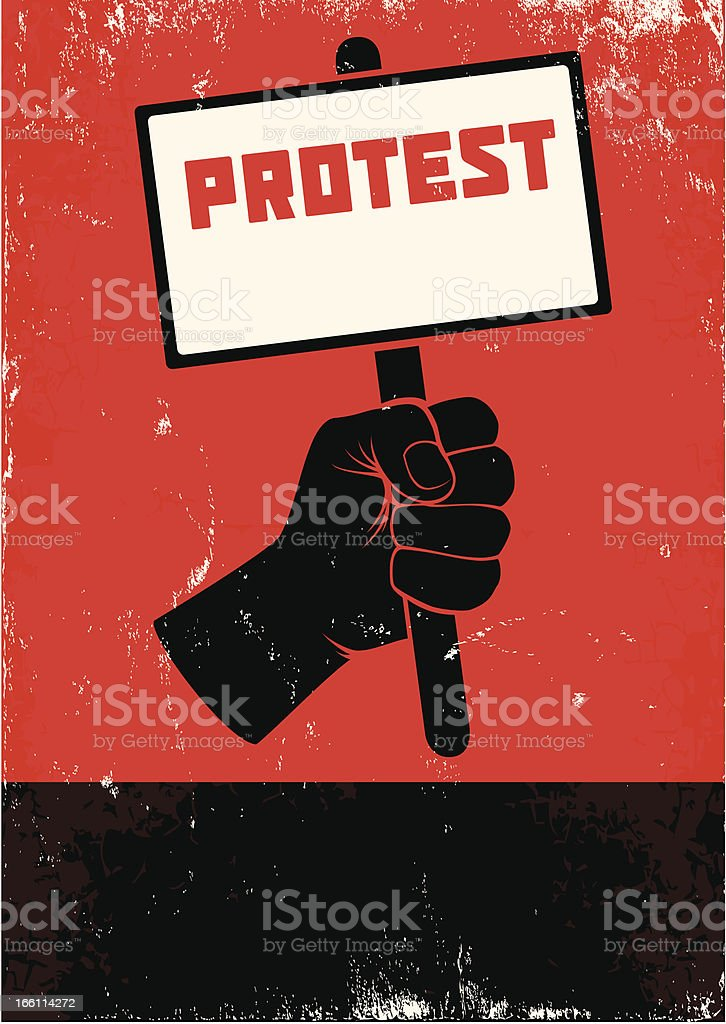 Illustration of protest vector art illustration