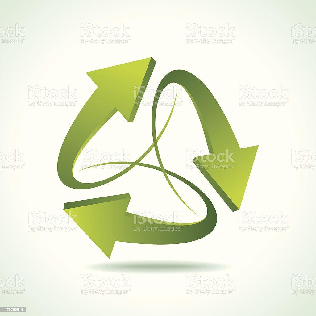 illustration of recycle arrow vector art illustration