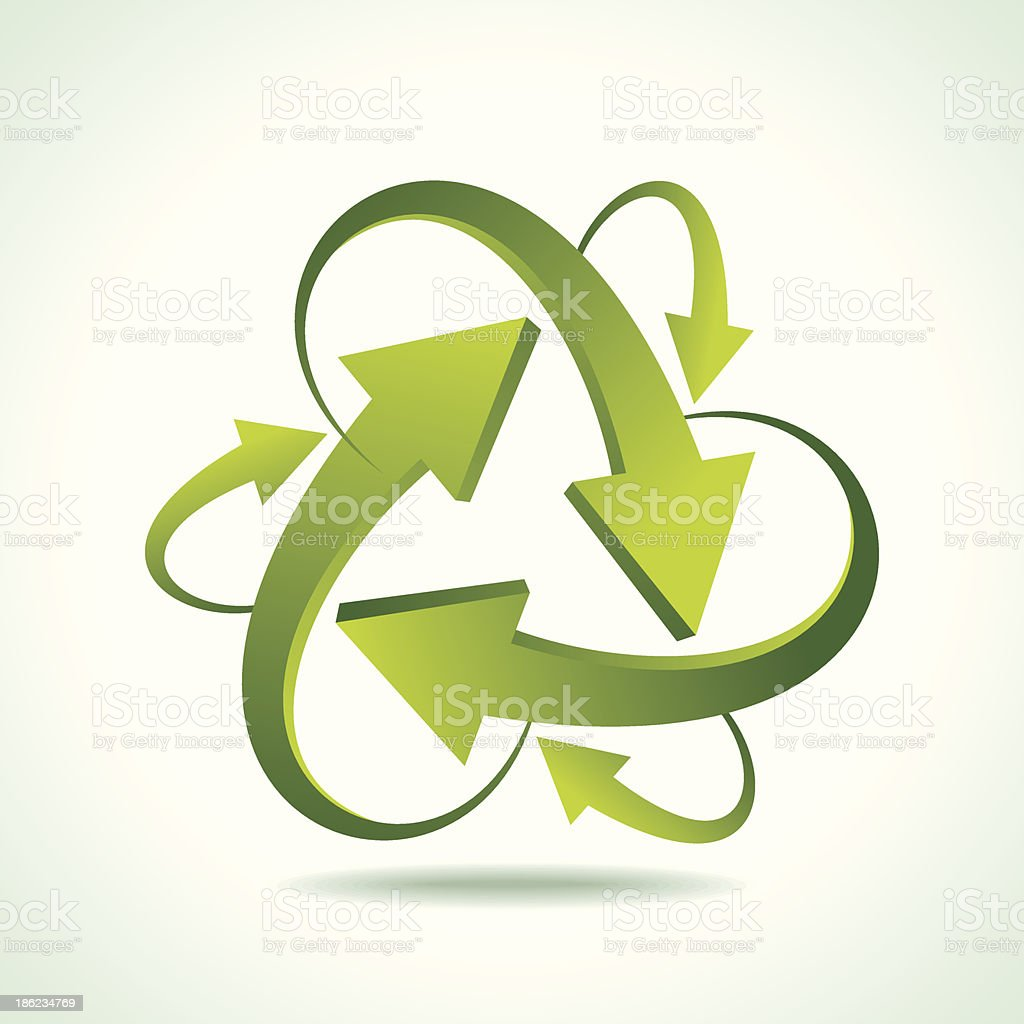 illustration of recycle arrow royalty-free stock vector art