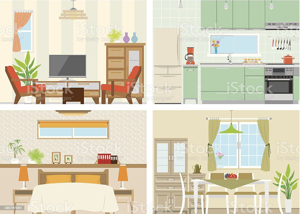 Illustration of room vector art illustration