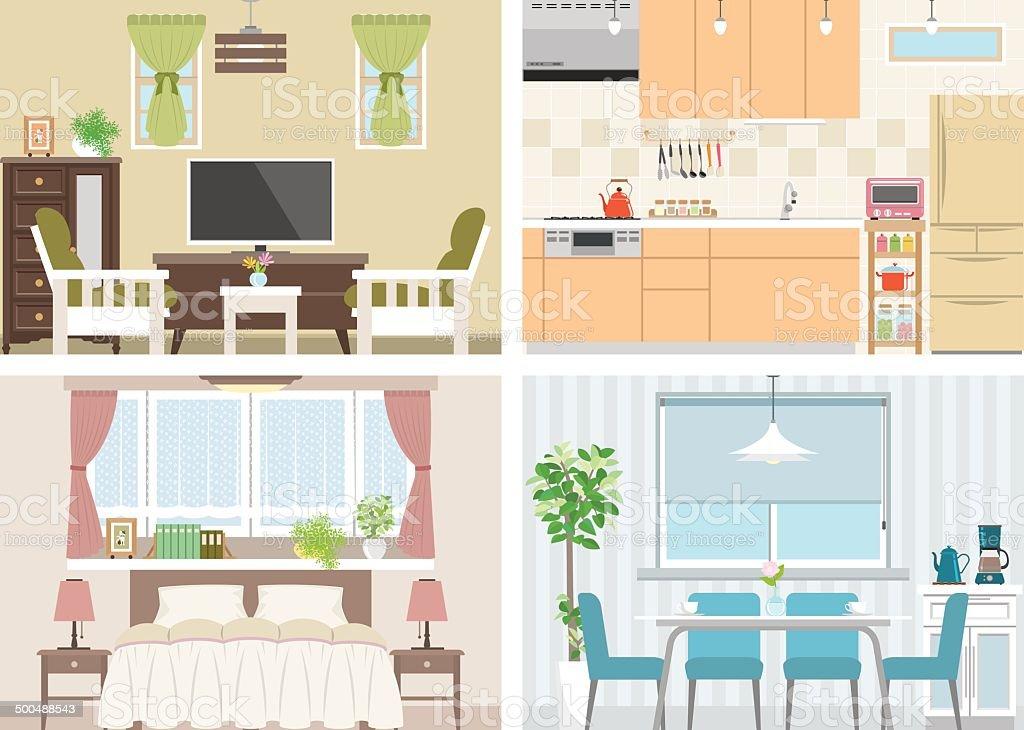 Illustration of room vector art illustration