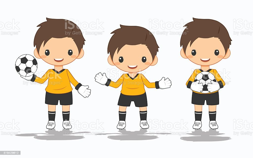illustration of soccer goalkeeper vector art illustration