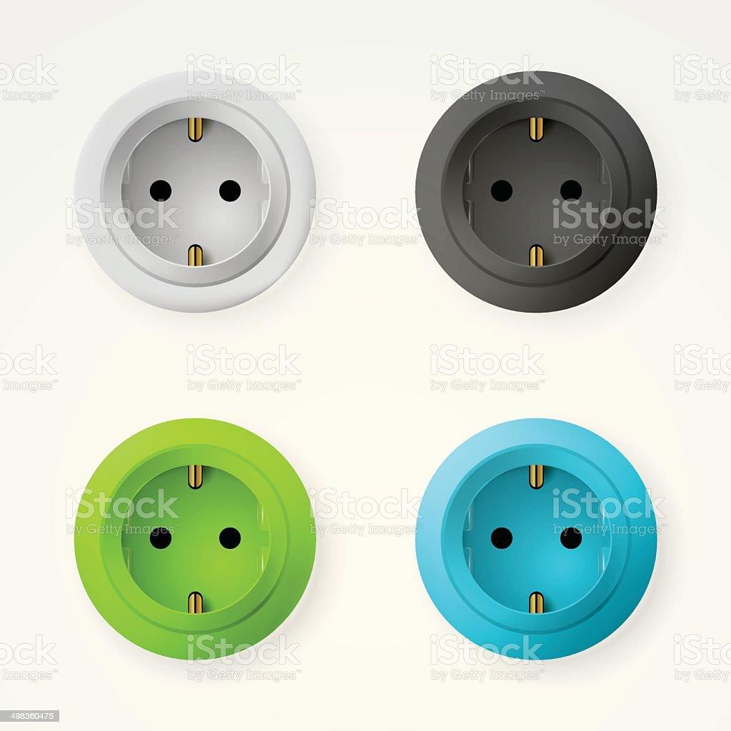 Illustration of sockets royalty-free stock vector art