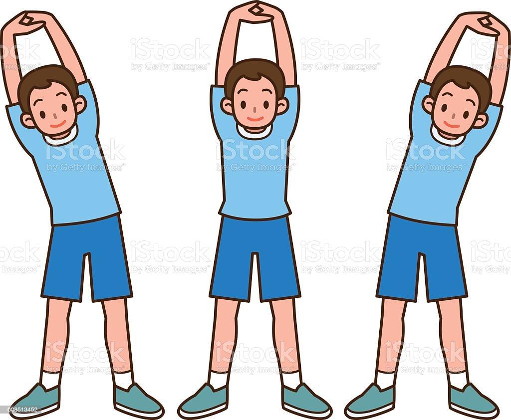 Illustration of stretch vector art illustration