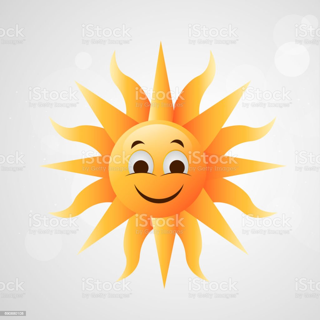 Illustration of sun for summer season background vector art illustration