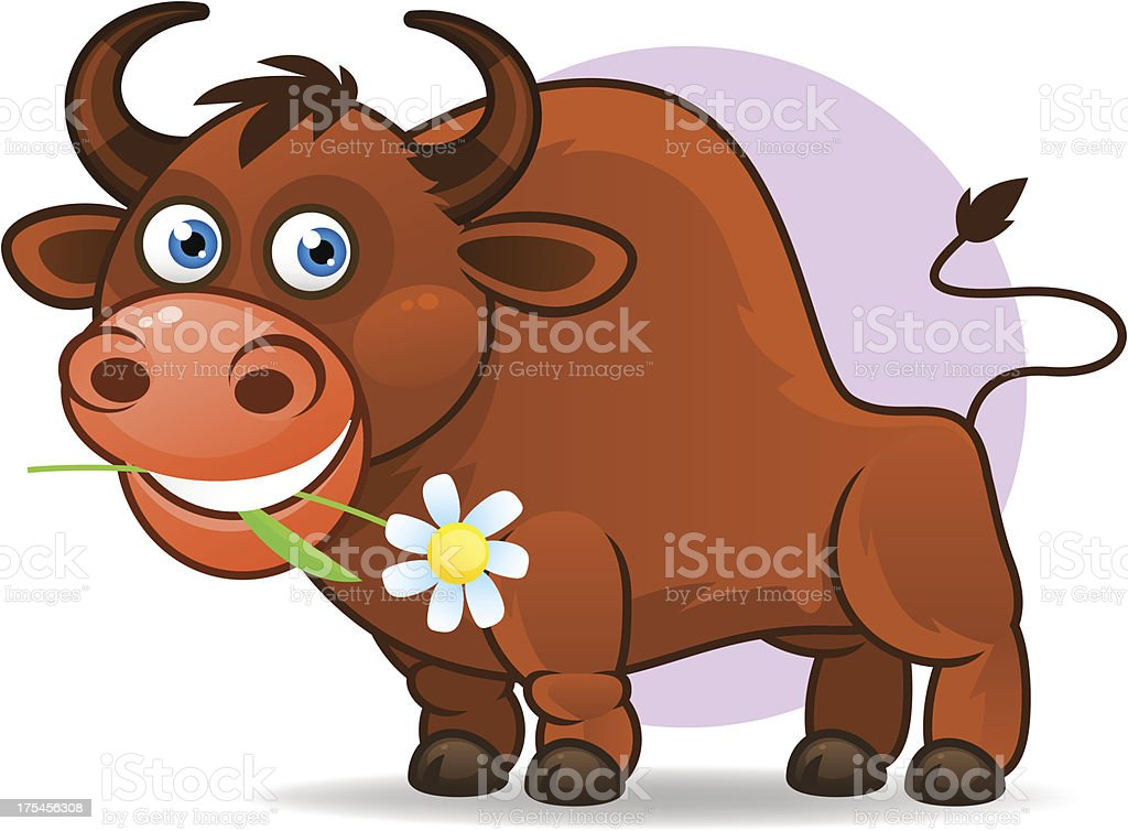 Illustration of Taurus astrological sign. Vector art. royalty-free stock vector art