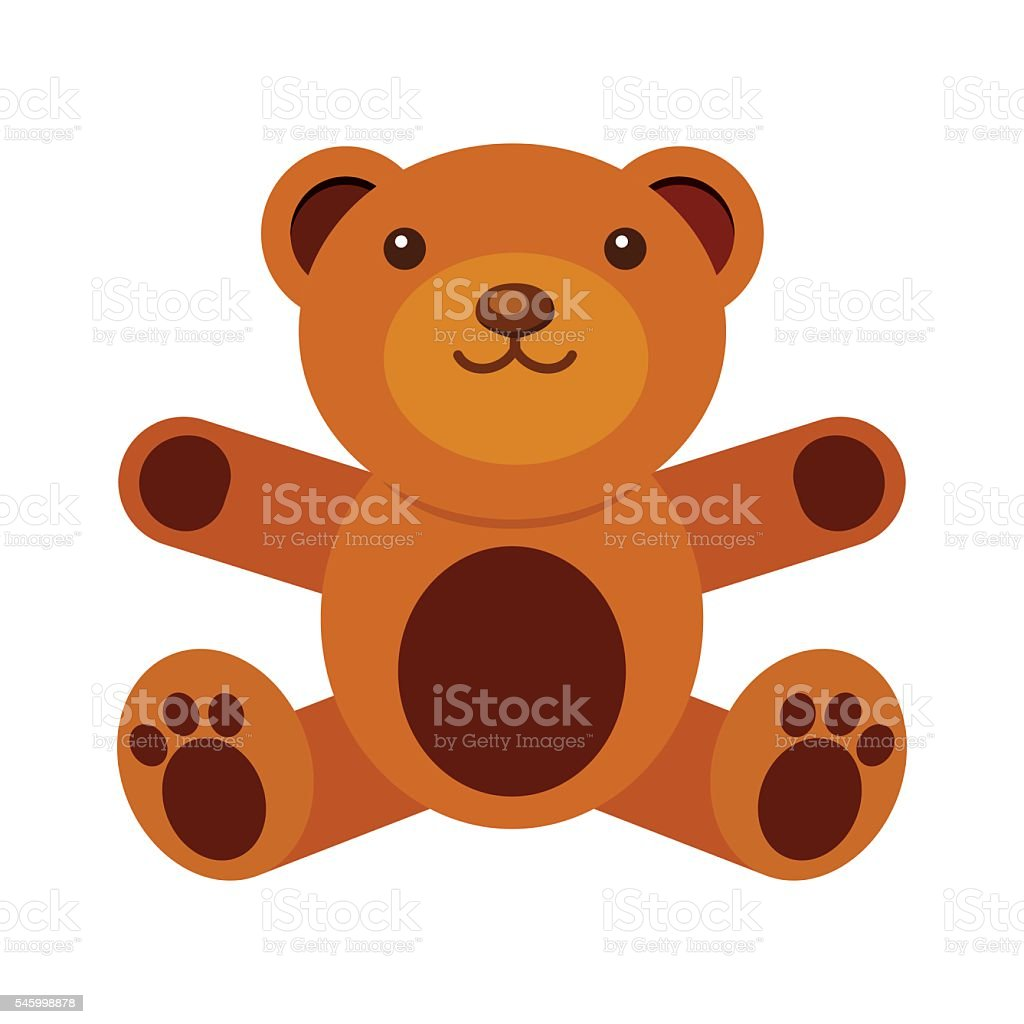 illustration of Teddy bear vector art illustration
