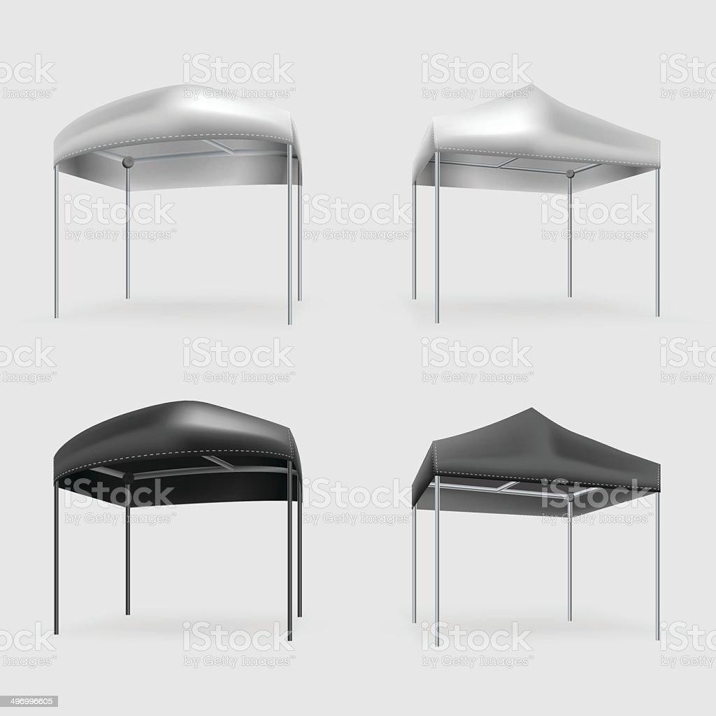 Illustration of tents vector art illustration