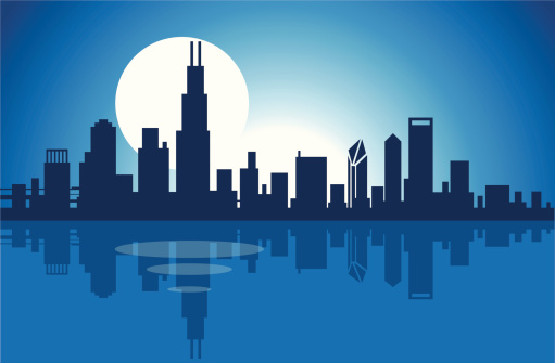 Chicago Skyline Clip Art, Vector Images & Illustrations ...