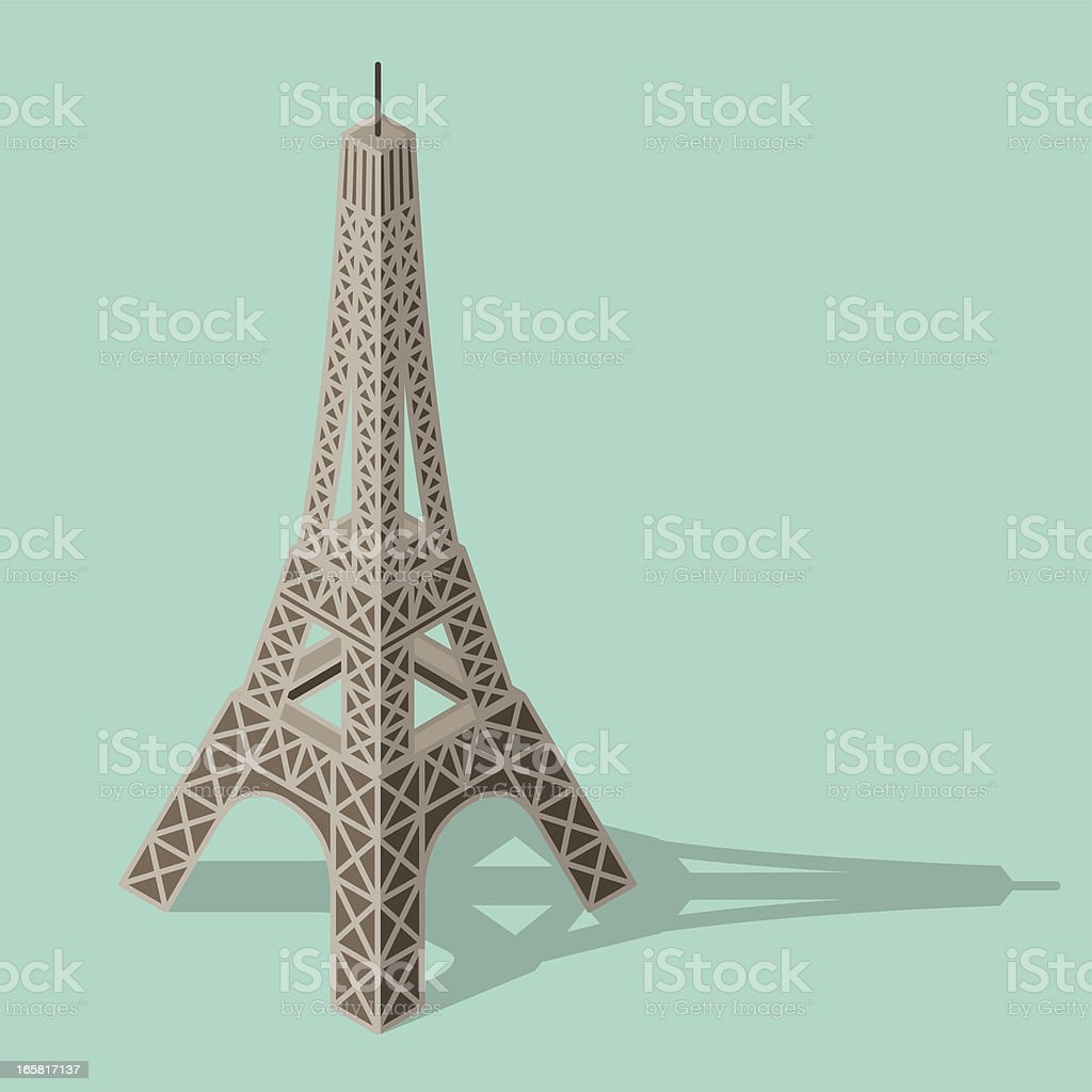 Illustration of the Eiffel tower vector art illustration
