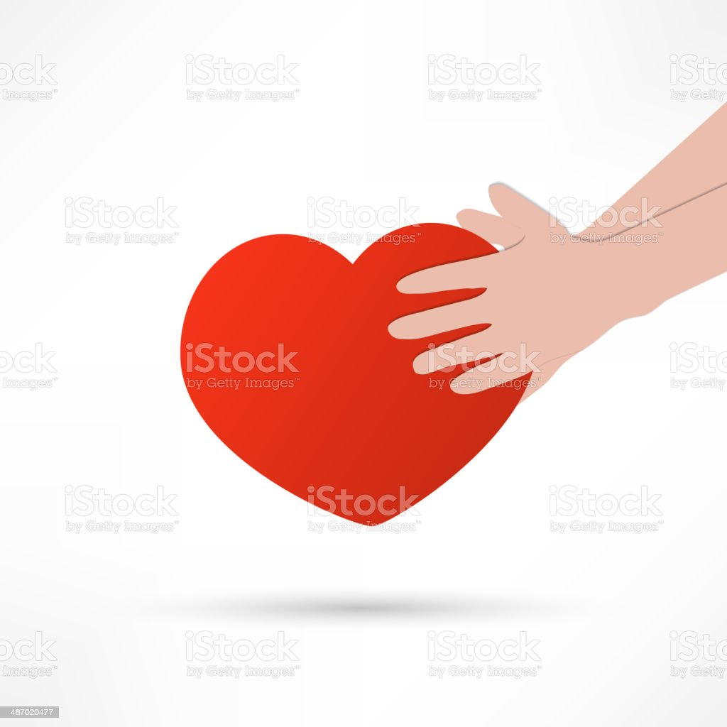 illustration of the human heart rescue people. royalty-free stock vector art