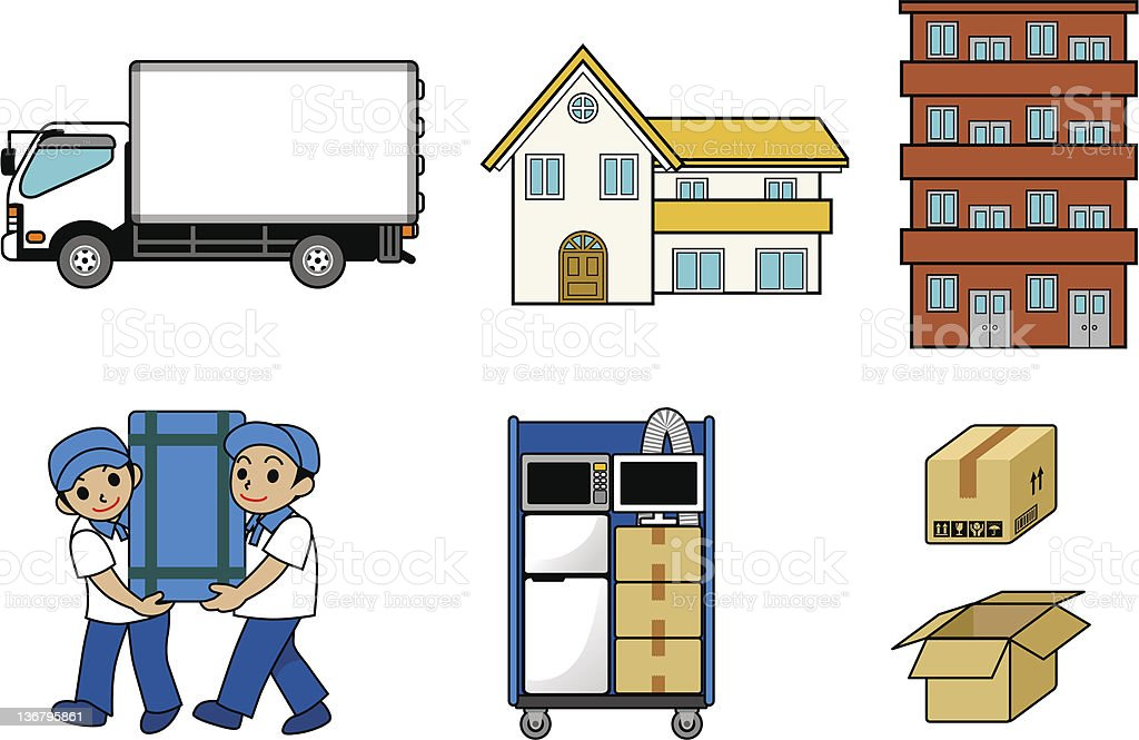 Illustration of the moving vector art illustration