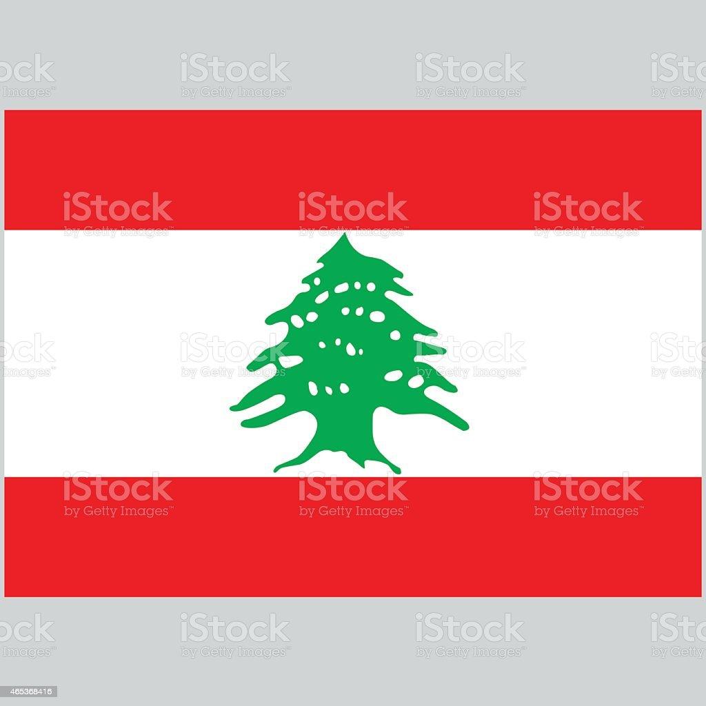 Illustration of the national flag of Lebanon stock photo
