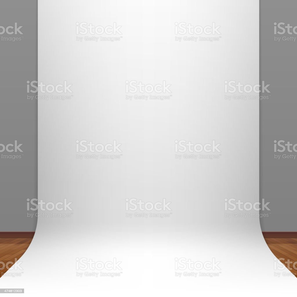 Illustration of transparent paper backdrop vector art illustration