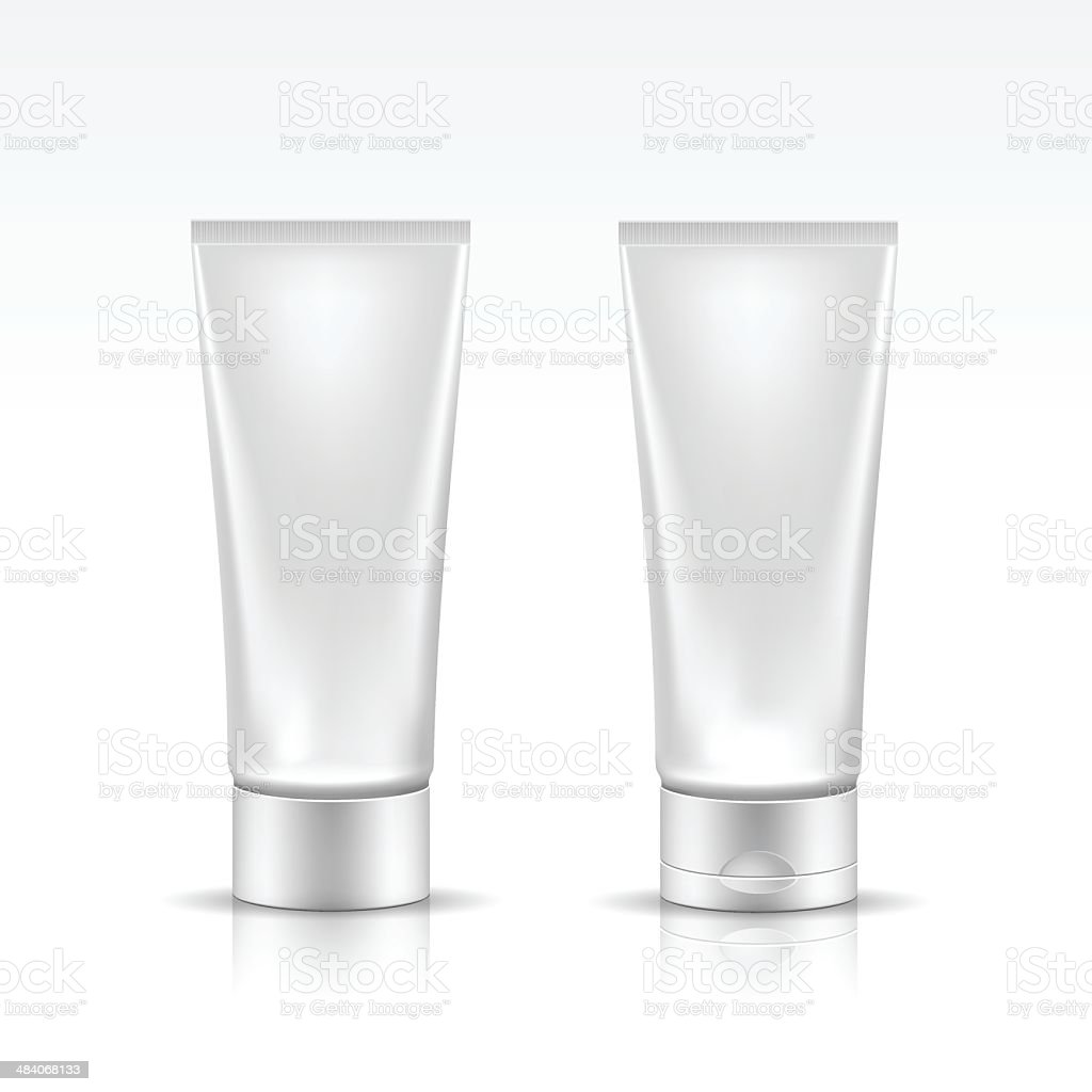Illustration of Tube for Cosmetic Package Isolated on White Background vector art illustration
