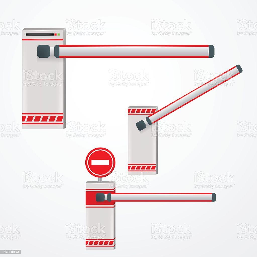 Illustration of turnpikes vector art illustration