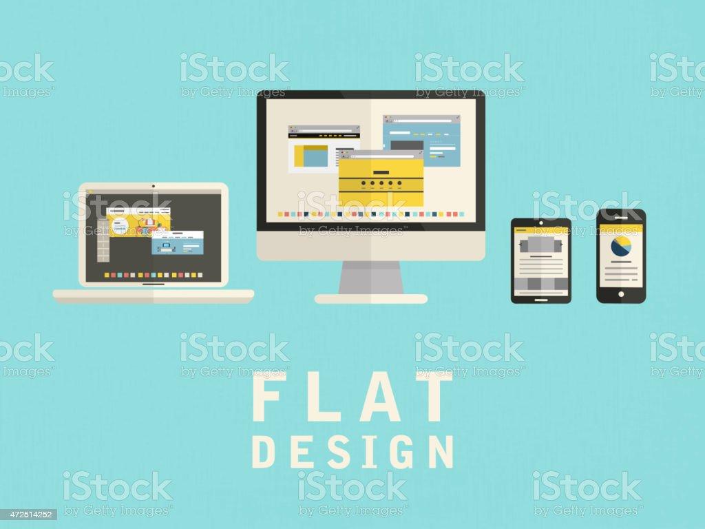 illustration of user interface design in flat vector art illustration