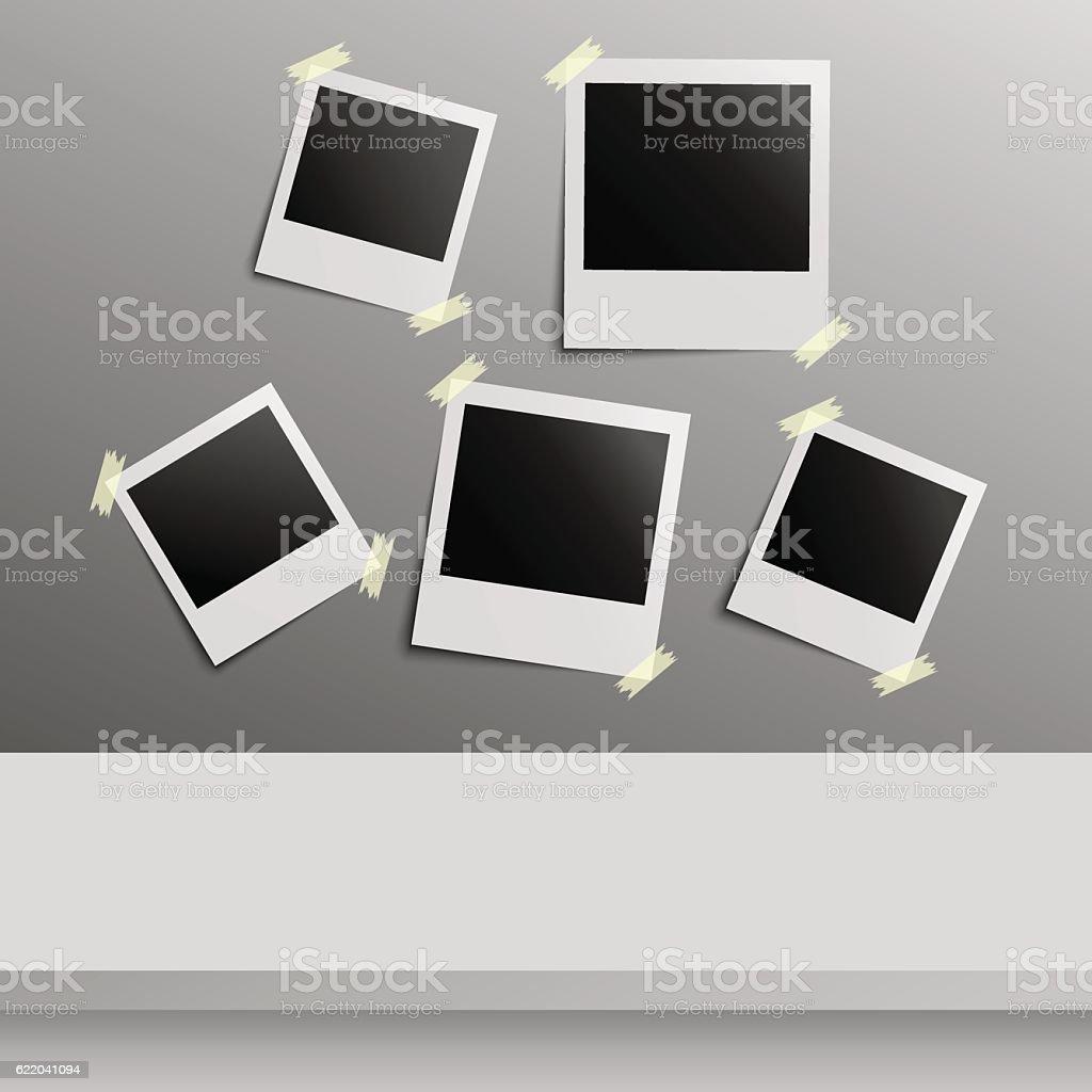 Illustration of vector Instant photo. vector art illustration