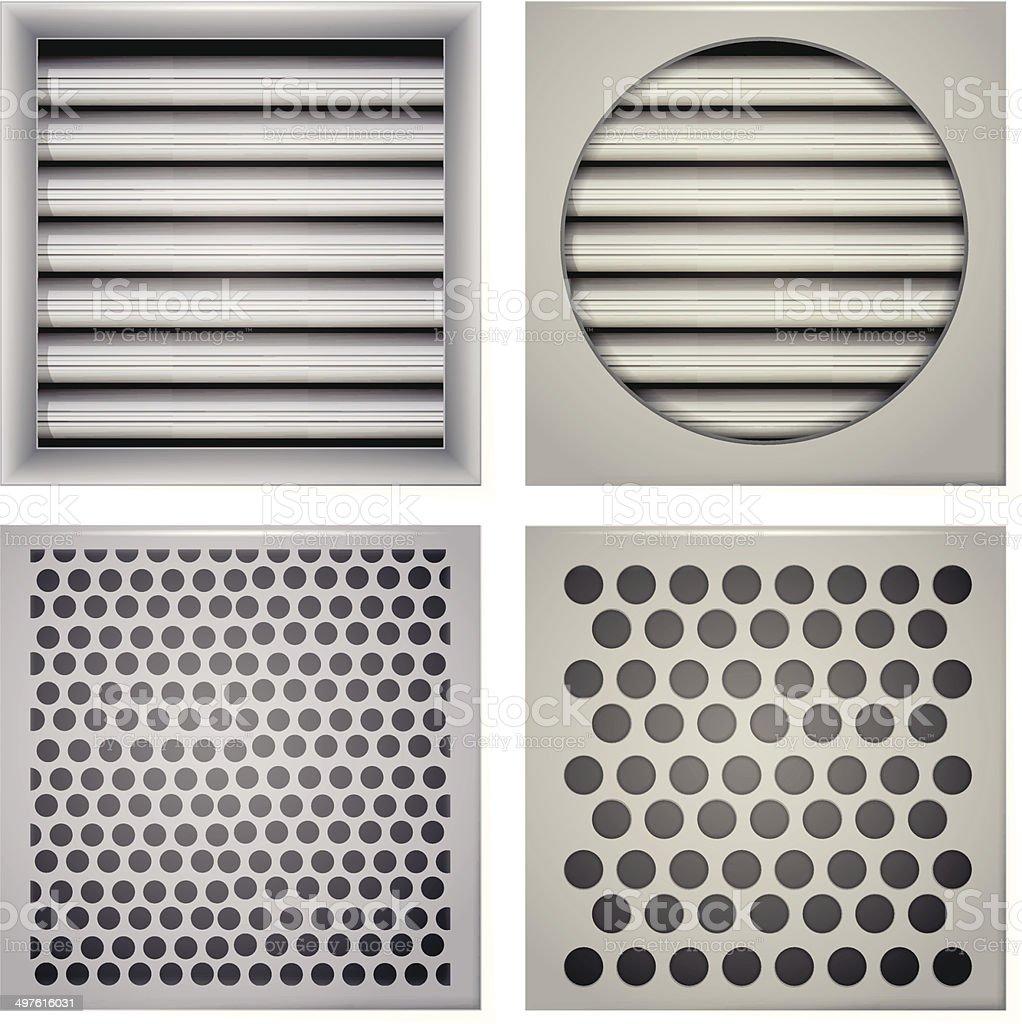 Illustration of ventilation shutters vector art illustration