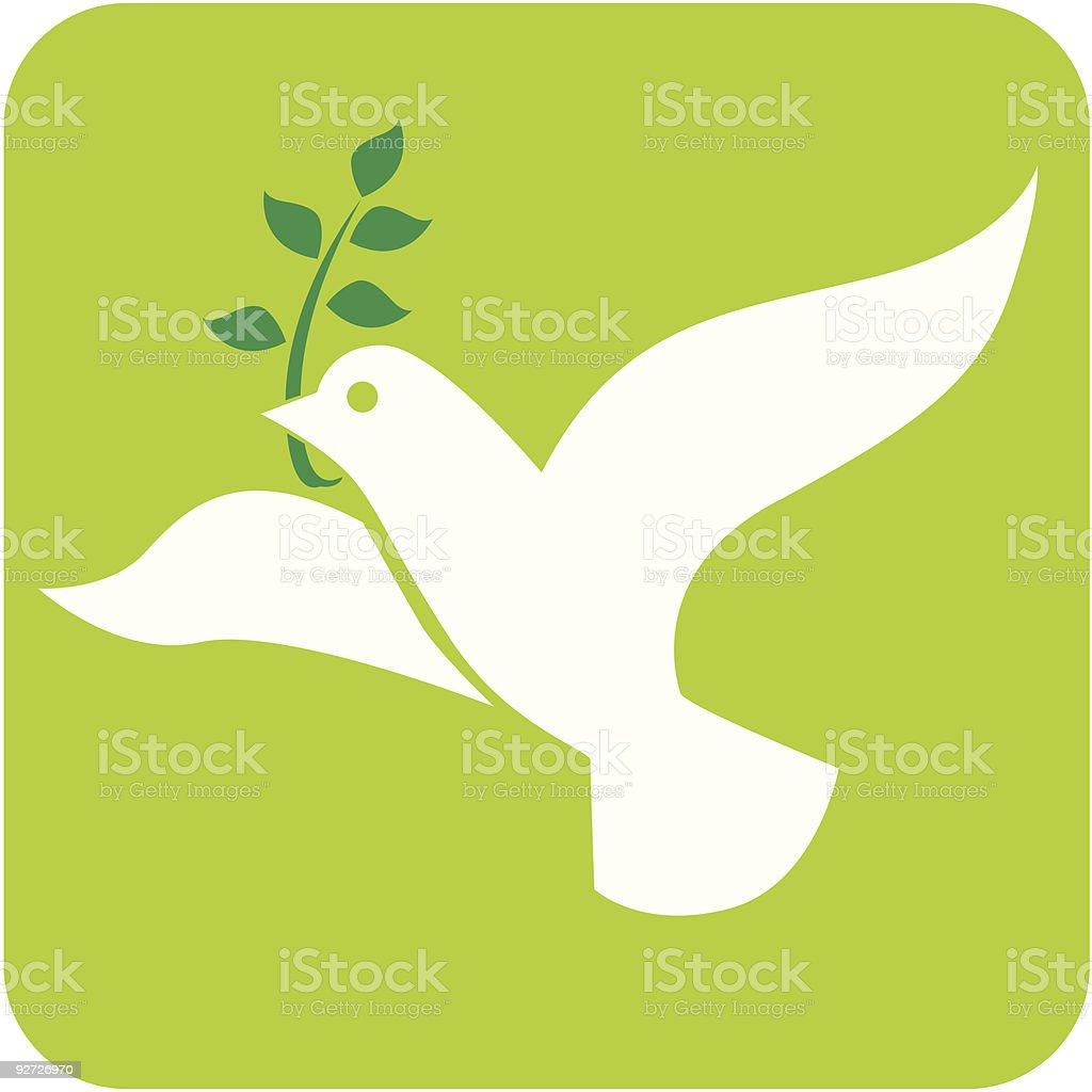 Illustration of white peace dove vector art illustration